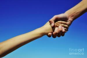 Holding hands in heaven